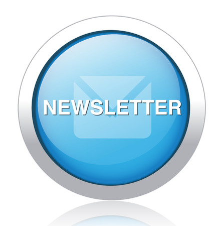 Newsletter glossy blue  button Vector