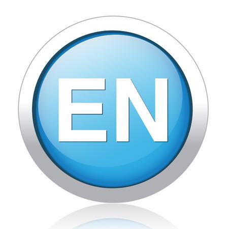 en: English language sign icon. EN translation symbol