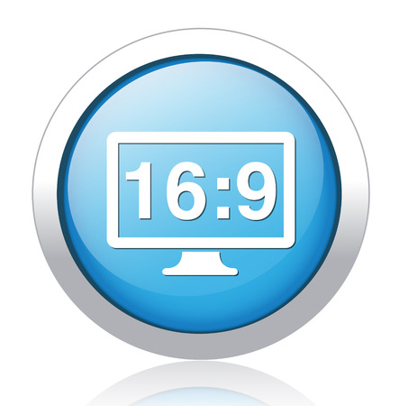 16: 16 9 display icon