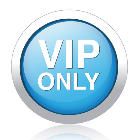 button with the inscription vip  Vector