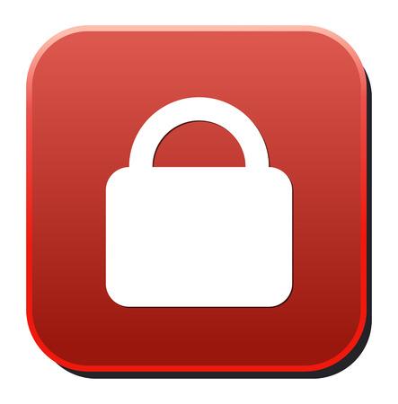 forbidden to pass: lock icon  Illustration