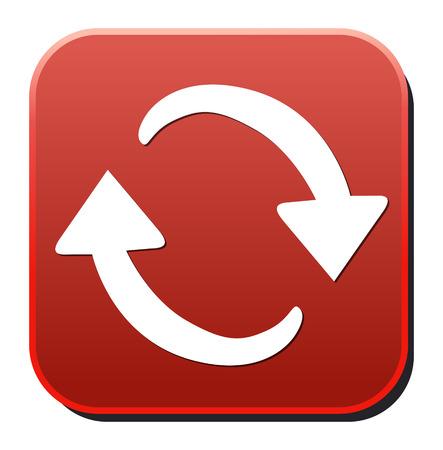 rewind icon: arrow sign reload refresh rotation Illustration