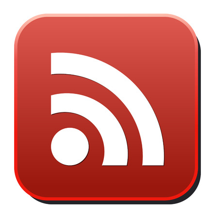 extensible: glossy web button with RSS feed sign