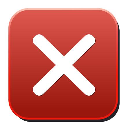 closure: cancel circle web icon  Illustration