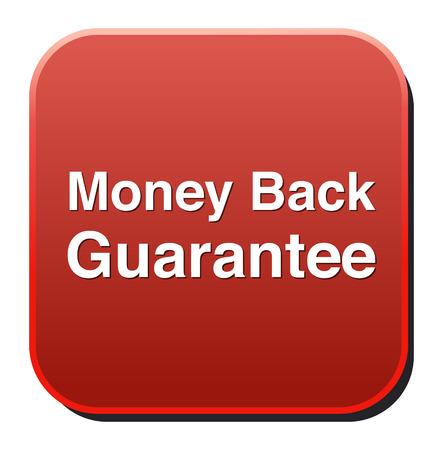 Money Back Guaranteed  button Vector