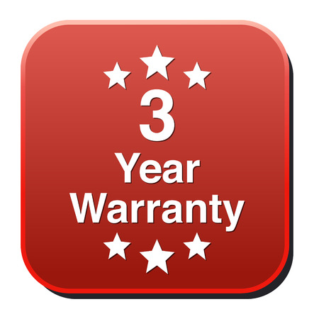 3 year warranty button Vector