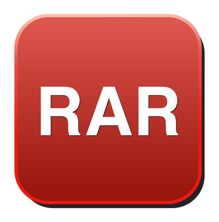 rar: Rar file icon vector
