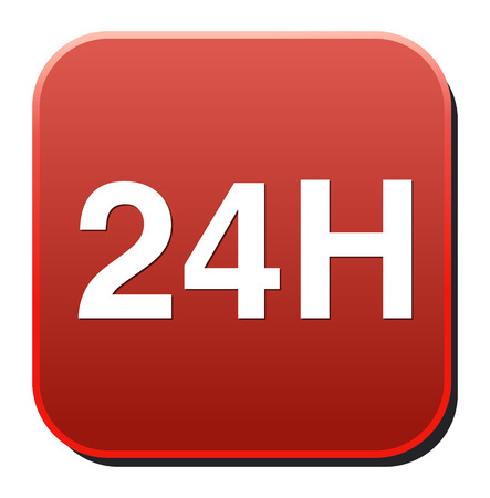 24 hours: 24 hours a day icon Illustration