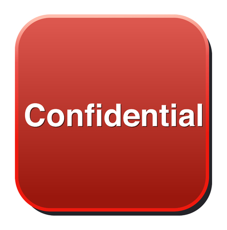 confidential top secret classified private information  button Stock Vector - 26991926