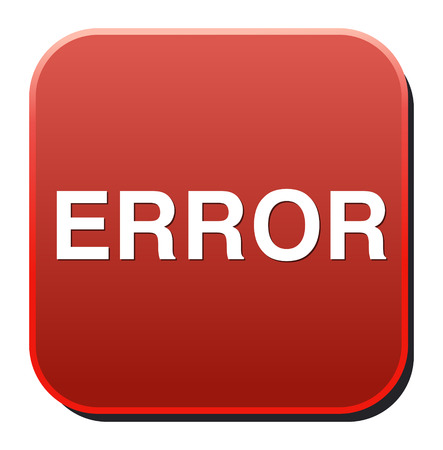 Error Button Vector