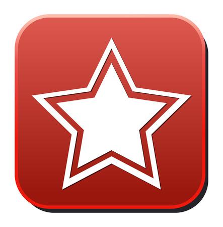 interface menu tool: Star favorite web icon