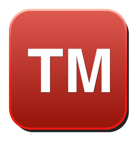 trademark: trademark button Illustration