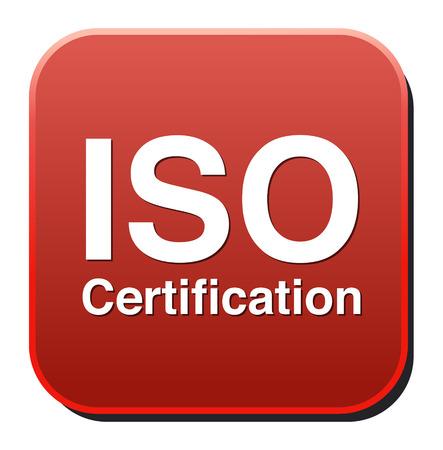 zertifizierung: ISO-Zertifizierung Taste