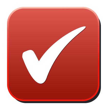 check box: check mark button Illustration