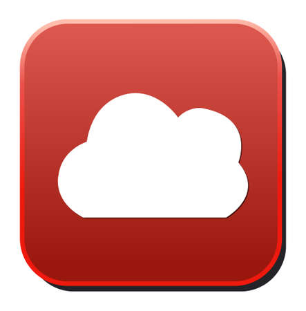 icloud: Vector  button with cloud icon Illustration