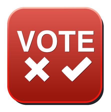 Validation sign, vote icon Vector