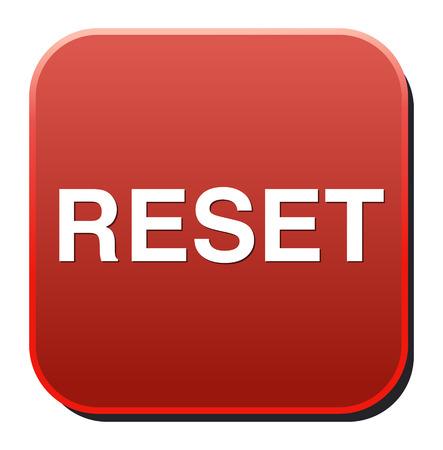 computer reset button illustration isolated on white Vector Illustration