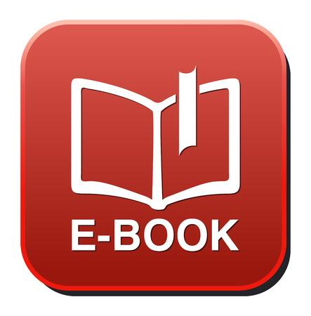Ebook icon button blue download