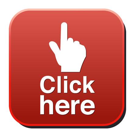 Button Klik Hier Stock Illustratie