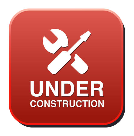 under construction button Vector