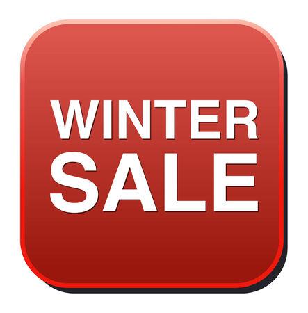 winter sale icon Vector
