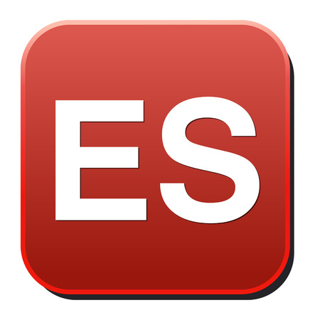 Spanish language sign icon. ES translation symbol Vector