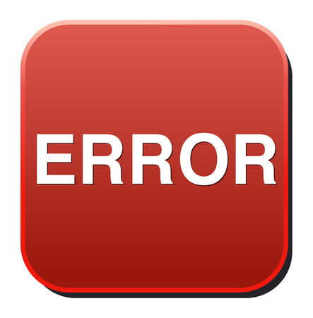 error icon Stock Vector - 26994336