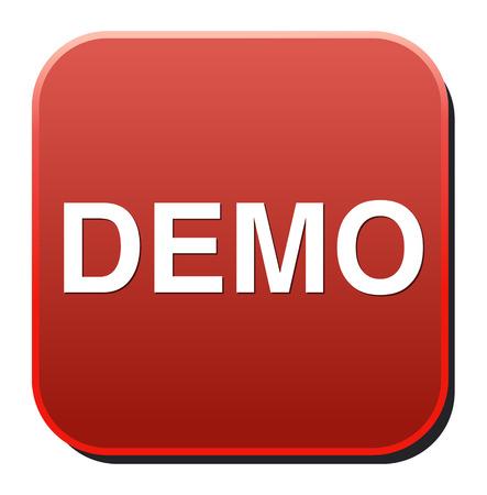 demo icon Stock Vector - 26994488
