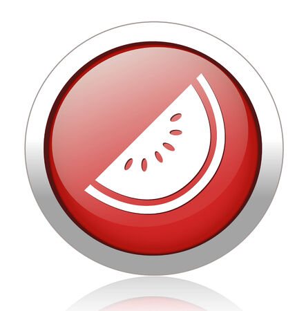 watermelon button Vector