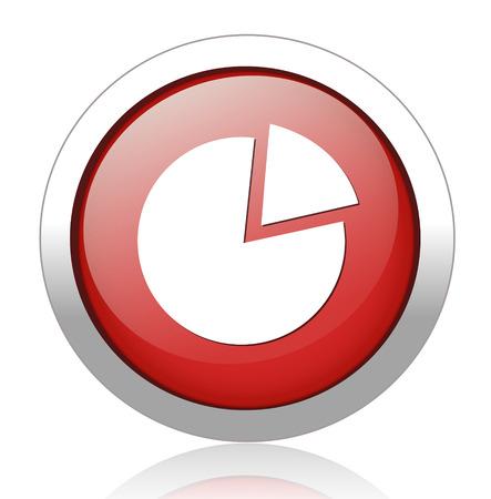 Pie chart button Vector