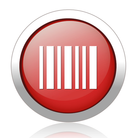 medical distribution: Barcode symbol,Blue button,vector