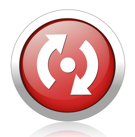 retry: icon of reload button Illustration
