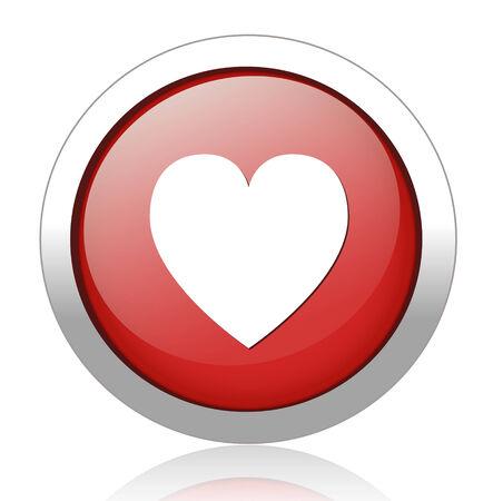round heart button Vector