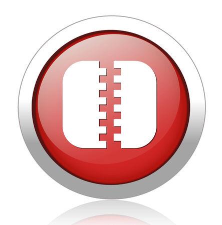 sistema operativo: Icono del archivo Zip Vectores