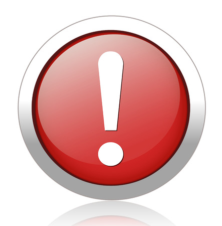 warning attention sign with exclamation mark symbol Vector