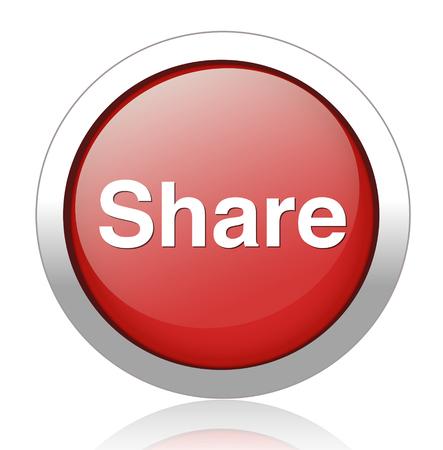 regular tetragon: Share icon. Illustration