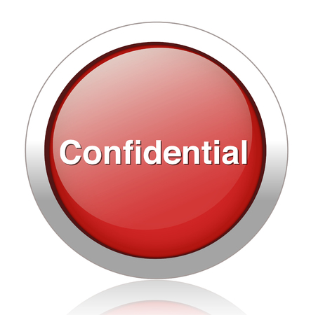 confidential top secret classified private information  button  Stock Vector - 27748738
