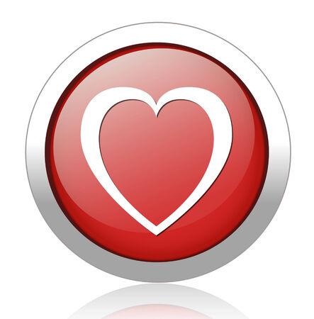 crumpled paper ball: heart  button Illustration