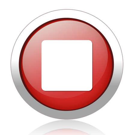 pushbutton: stop icon Illustration