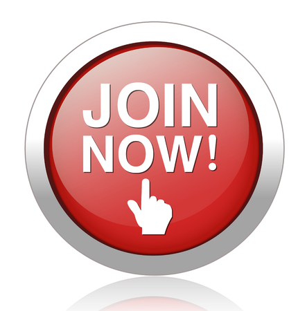 Join now button, registration icon and button Vector