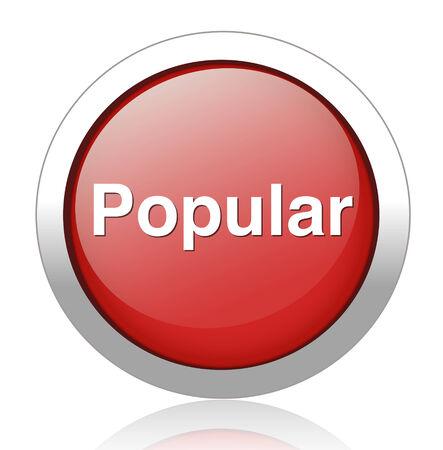 popular button Stock Vector - 27750532