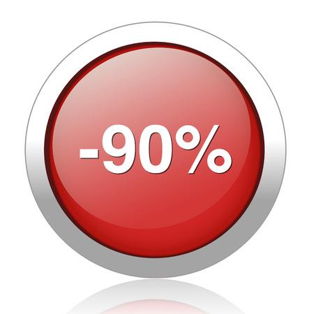 90: 90 percent off