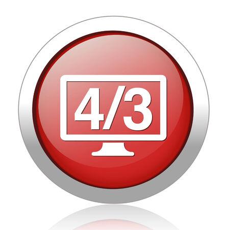 4 3 display: 4 3 display icon