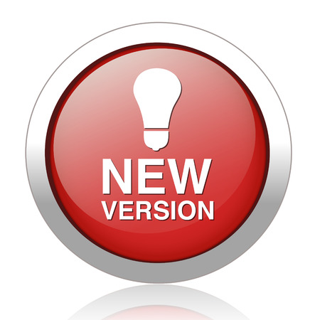 New version button Vector