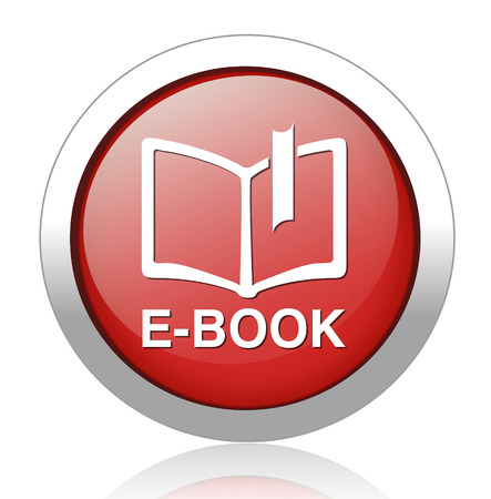 Ebook icon button blue download