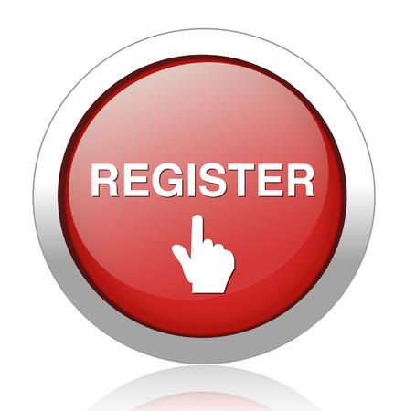 register button Vector Illustration
