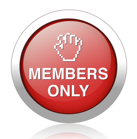 vip area: Members only button  Illustration