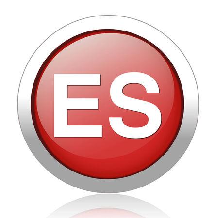 translation: Spanish language sign icon. ES translation symbol