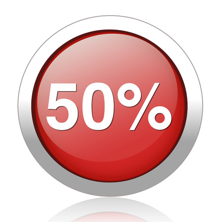 50 percent icon Vector