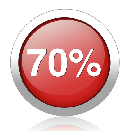 70 percent icon Vector